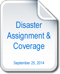 Disasater Assignment and Coverage