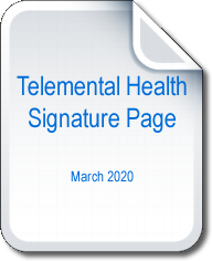 Telemental Health Signature Page